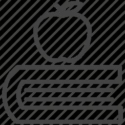 apple, book, study icon