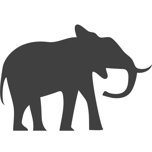 elephant, endangered icon