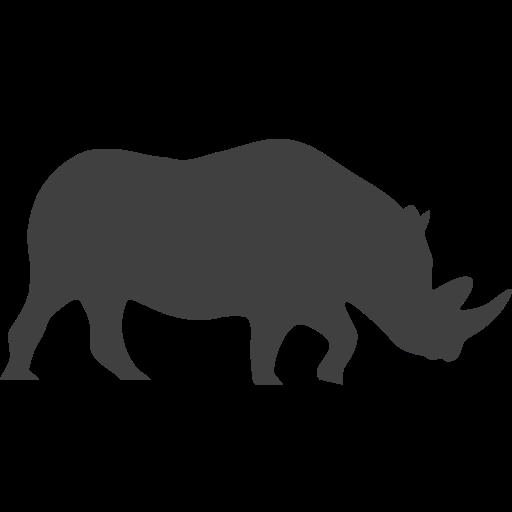 black rhino, endangered, rhino, rhinoceros icon