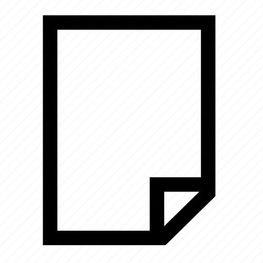 blank, document icon