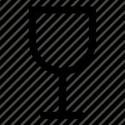 fragile, glass icon