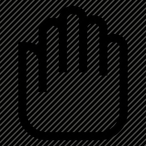 hand, left, stop icon
