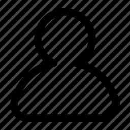 human, profile, user icon