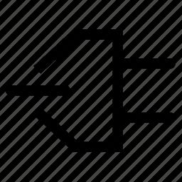 close, connection, remove icon