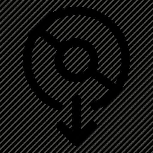 disc, export, read icon