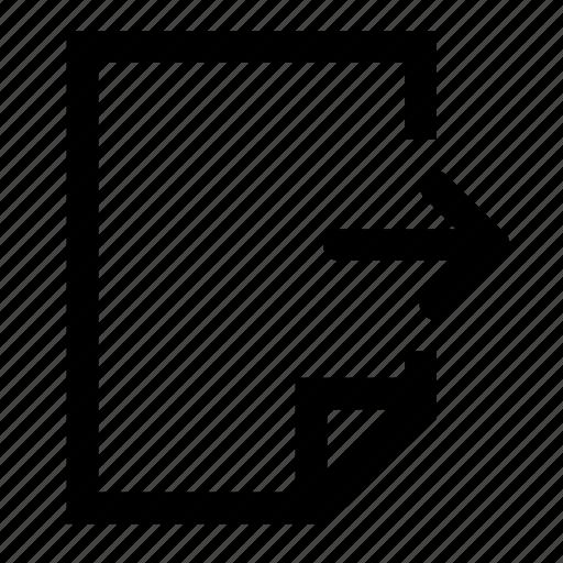 document, next icon