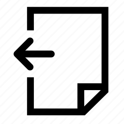 document, previous icon