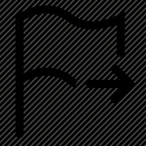 flag, mark, next icon