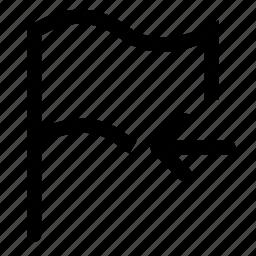 flag, mark, previous icon