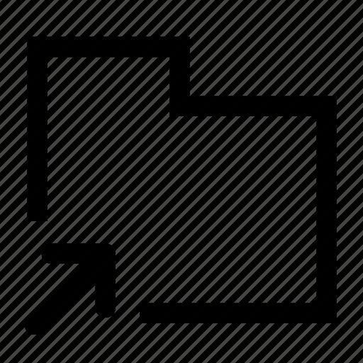 export, folder icon