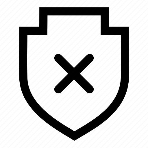 off, protection, security, shield icon