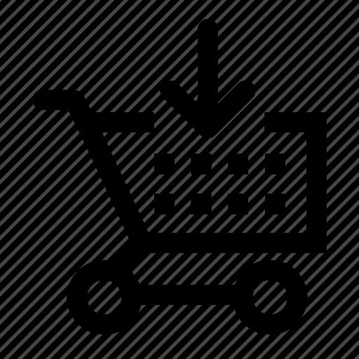 add, cart, shopping icon