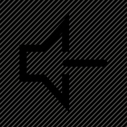 quiet, sound icon