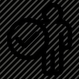 profile, registered icon