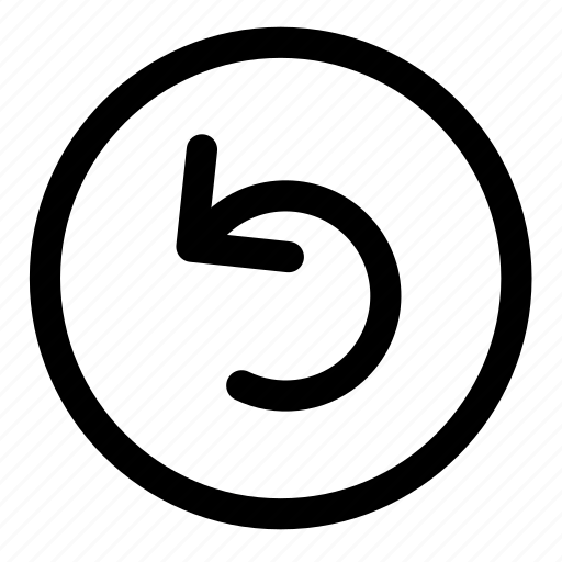 button, undo icon