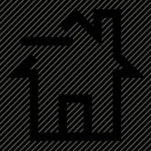 home, remove, sale icon