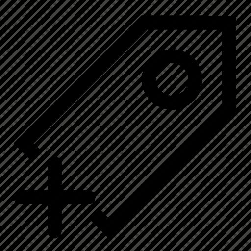 add, label, tag icon