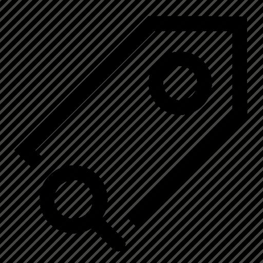 label, search, tag icon