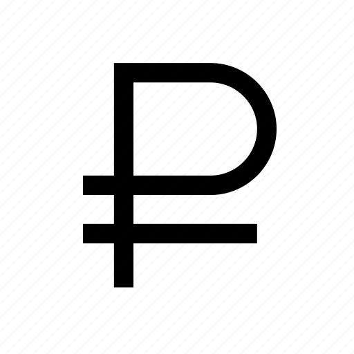 ruble, sign icon