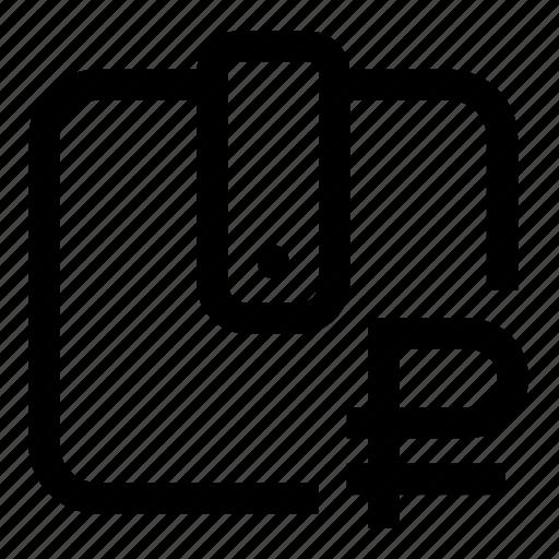 ruble, wallet icon