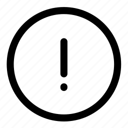 alert, attention, error icon