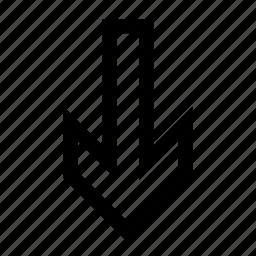 arrow, fall icon