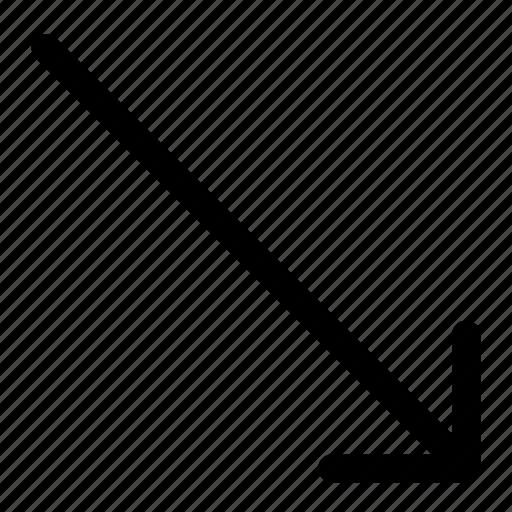 arrow, recession icon