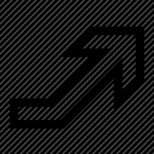arrow, rise icon
