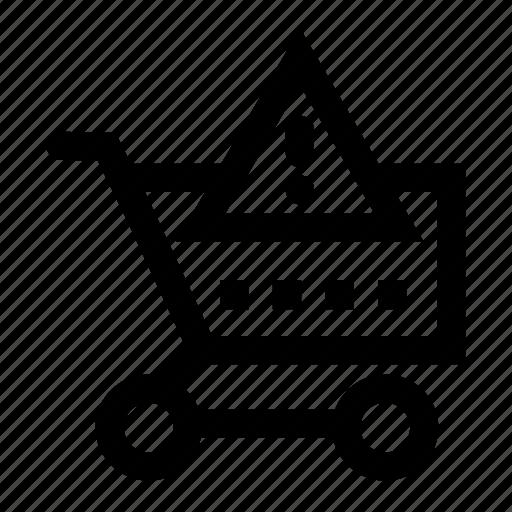 alert, cart, shopping icon