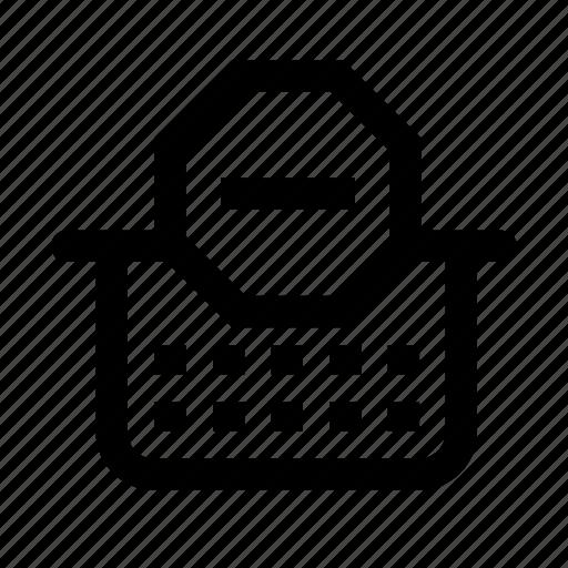 block, cart, shopping icon