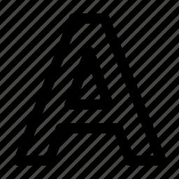 alfabet, font icon