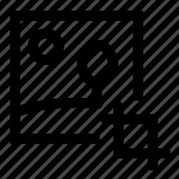 crop, image icon