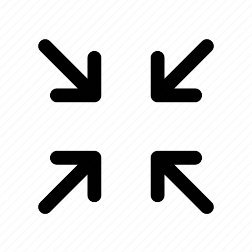 out, reduce, zoom icon