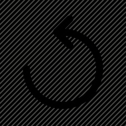 left, rotate, undo icon
