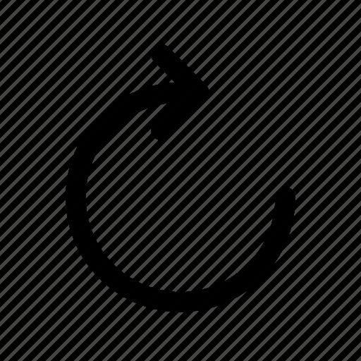 redo, right, rotate icon