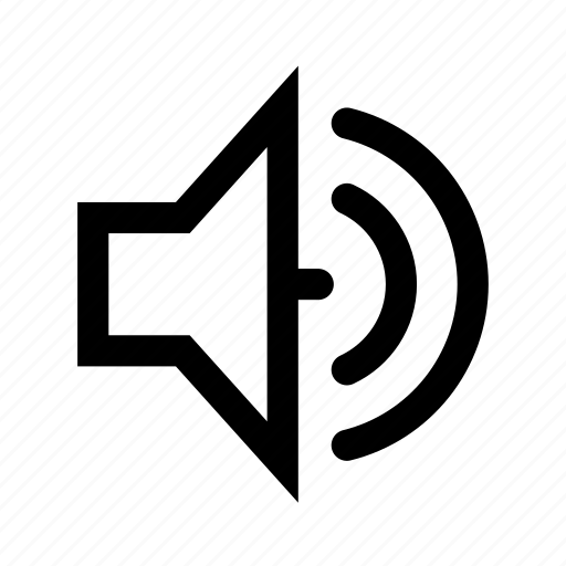 on, sound, speaker icon