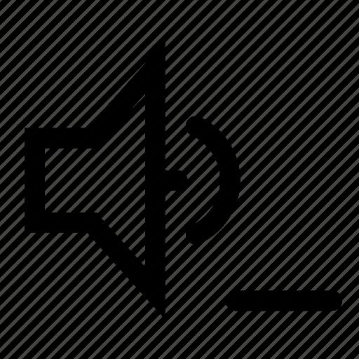 remove, sound, speaker icon