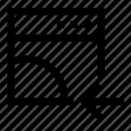 browser, left, move, prev icon