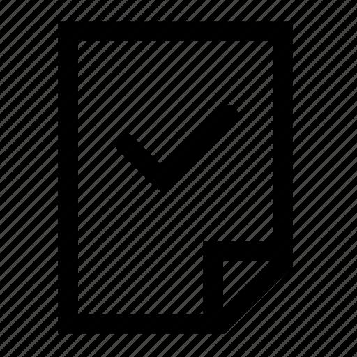 aproove, check, file icon