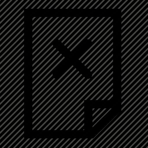 clean, delete, file icon