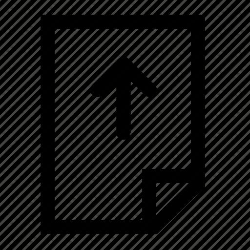 down, file, move icon
