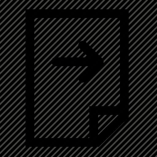 file, move, next, right icon