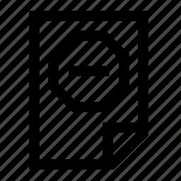 ban, file, stop icon
