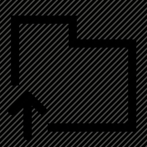 folder, move, up icon
