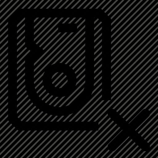 delete, disk, formatting, hard, initialization icon