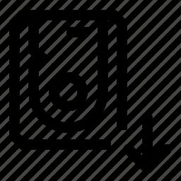disk, down, hard, move icon