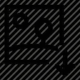 down, image, move icon