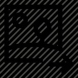 image, move, right icon