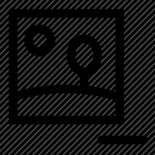 image, remove icon