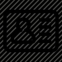 id, profile icon